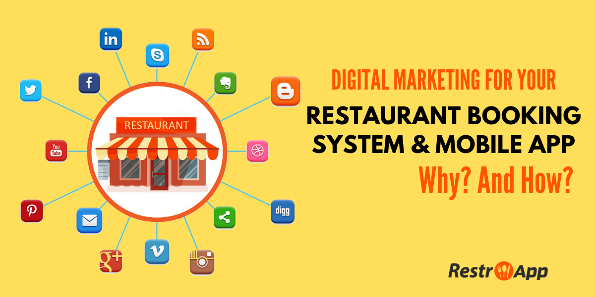 Digital Marketing For Online Restaurant Booking System & App - RestroApp