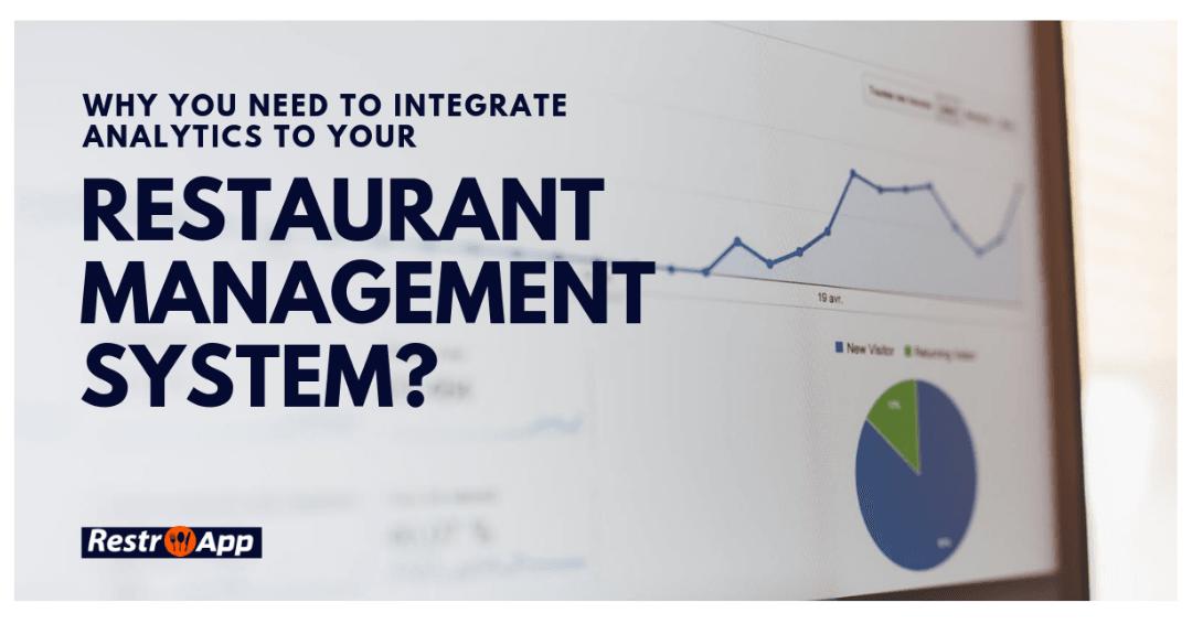 Integrate Analytics to Restaurant Management System
