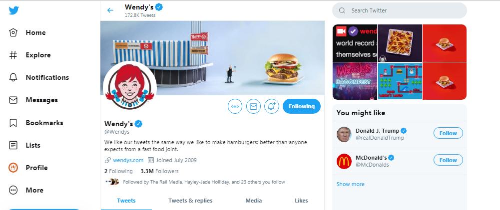 Wendeys-twitter-account