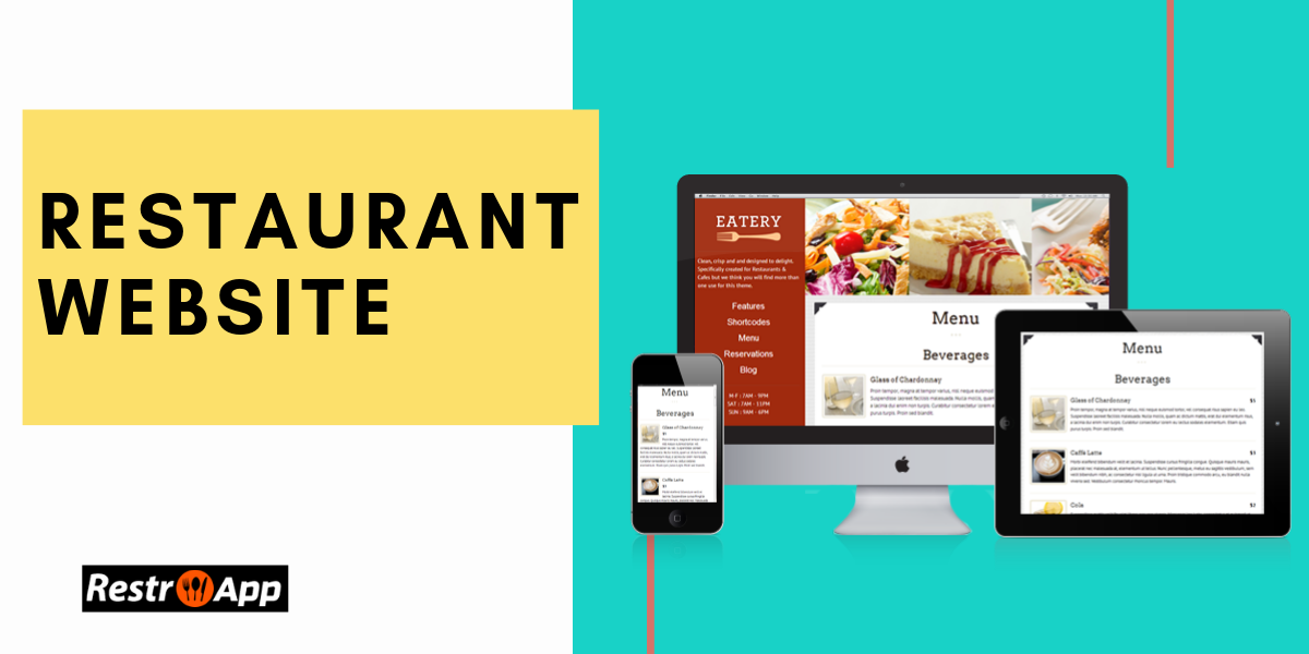 Restaurant Website Design - RestroApp