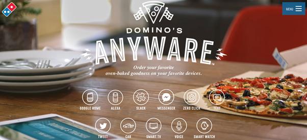 Domino's Ordering Process