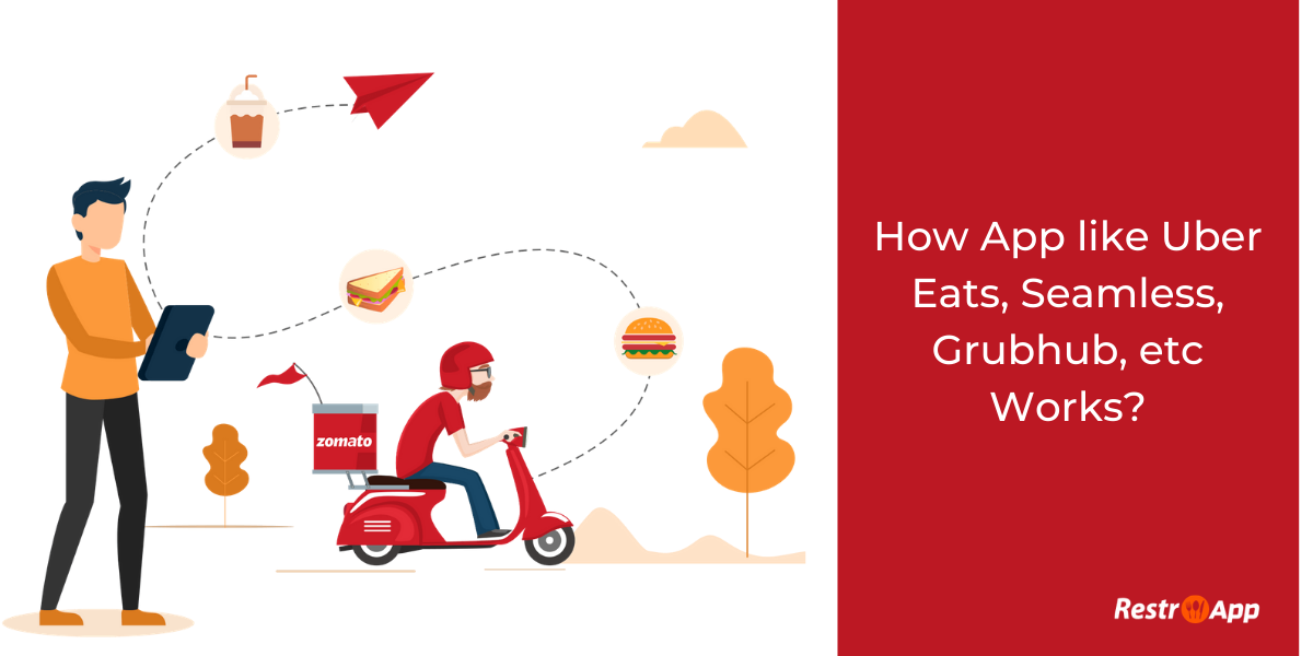food delivery app workflow - RestroApp