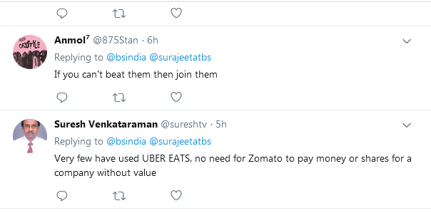 twitter reactions of ubereats customers
