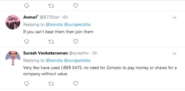 twitter reactions of ubereats customers
