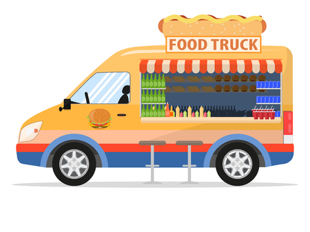 89505489-stock-vector-vector-illustration-of-a-cartoon-food-truck-isolated-on-white-background-flat-style-side-view-cart-w