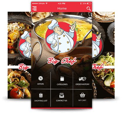 Big Chef Food Ordering App - RestroApp