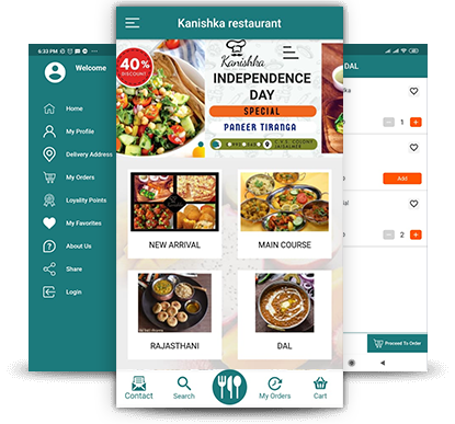 Kanishka Restaurant Food Ordering App - RestroApp